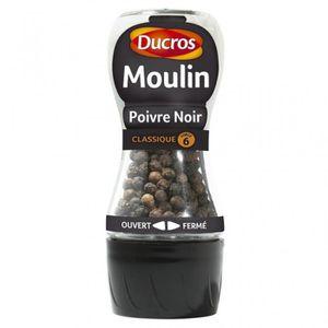 MOULIN DE CUISINE Ducros Moulin Poivre Noir Classique 28g (lot de 3)