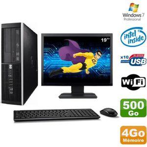 UNITÉ CENTRALE + ÉCRAN Lot PC HP Elite 6000 Pro SFF E5400 2.7Ghz 4Go Disq