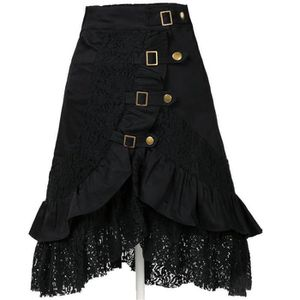 JUPE Steampunk Gothic Vintage Cotton Lace Jupes  Gypsy
