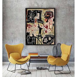 TABLEAU - TOILE Home Décor Peinture à l'huile Jean-Michel Basquiat