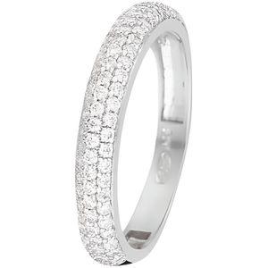 BAGUE - ANNEAU Mes-bijoux.fr - Bague Femme Sagesse Or Blanc 375-1