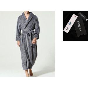 PEIGNOIR FindDress Chaud et Doux Luxe Tissu Eponge Peignoir