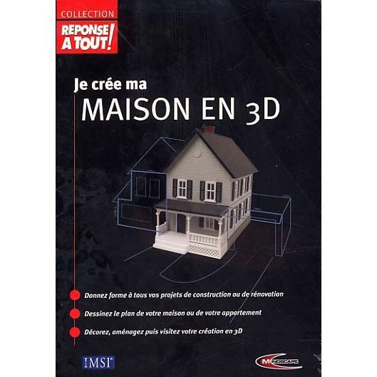 je cree ma maison en 3d achat vente jeu pc je cree ma maison en 3d cdiscount. Black Bedroom Furniture Sets. Home Design Ideas