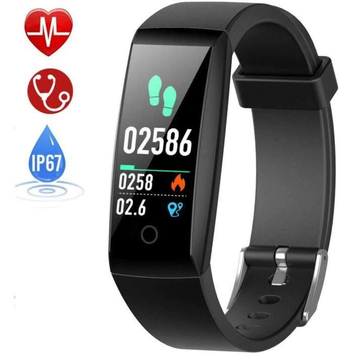 HETP Montre Connectée Cardiofréquencemètre Podomètre GPS Fitness Tracker d'Activité Tension Artérielle Smartwatch Sport Femme Homme
