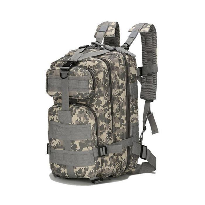 Sac à dos tactique militaire de l'armée 3P 20-30l, sac d'extérieur étanche pour hommes, sac à dos pour randonnée [7795237]