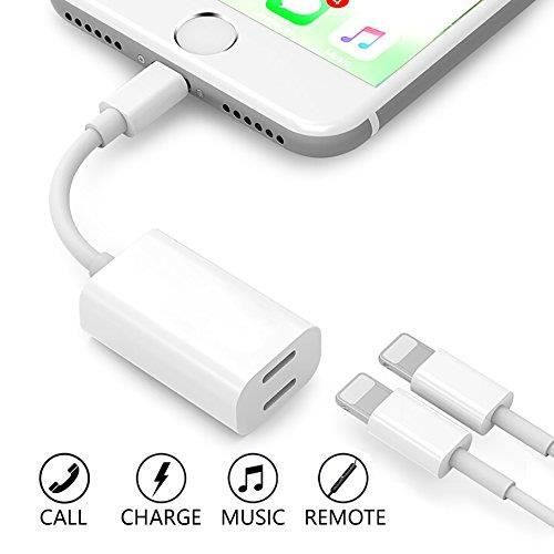 StillCool Adapter & Splitter für iPhone 8/8Plus/X/7/7Plus 2 en 1 Double Lightning aux Jack casque adaptateur audio Splitter audio +