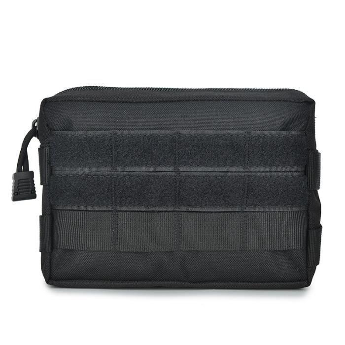 B Black -Sac tactique Molle, pochette utilitaire EDC pour extérieur randonnée voyage chasse, gilet tactique, ceinture de taille, sac
