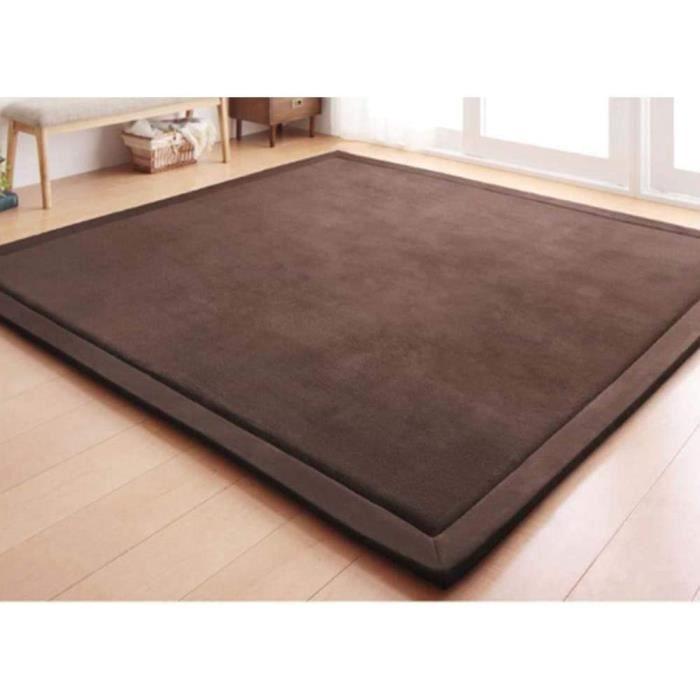 Japonais Sol Futon Matelas De Futon,Premium Tatami Dormir Surmatelas,Doux Corail Velvet Tapis,Enfants Ramper Mat Yoga Mat-g 80x260