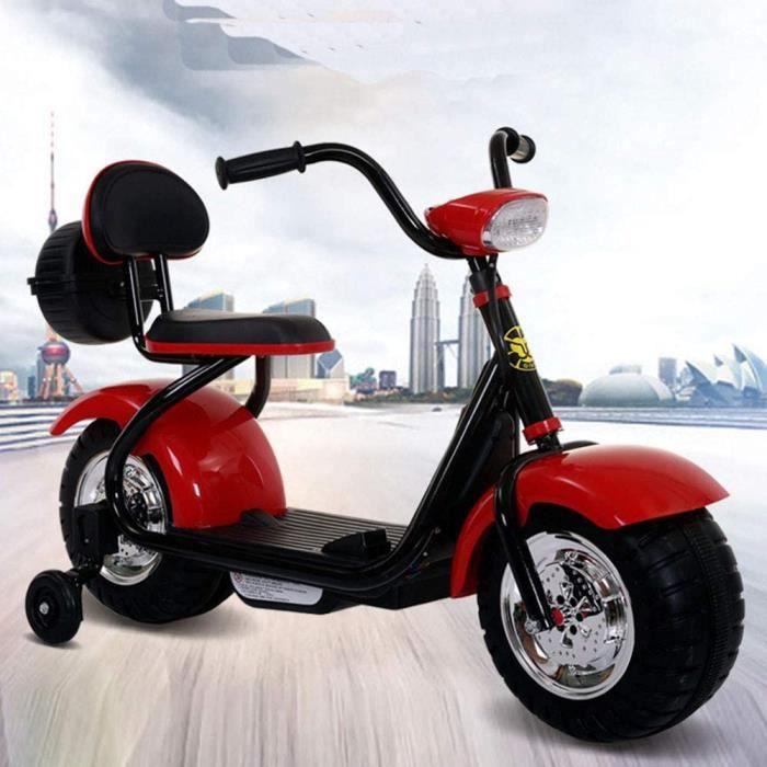 VOITURE ELECTRIQUE Moto &eacutelectrique Harley Quad Enfant &eacutelectrique 6V Tricycle 3 kmh 2-8 Ans Voiture de Jouet pour E129
