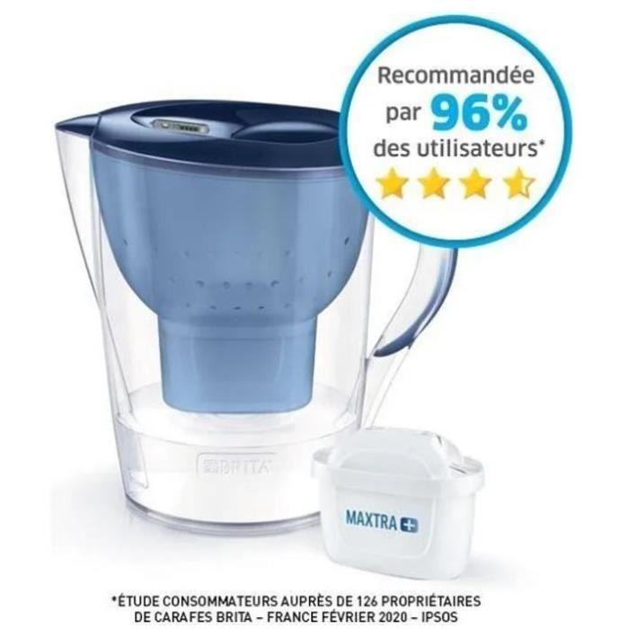 BRITA Carafe filtrante MARELLA XL Bleu + 1 cartouche de rechange