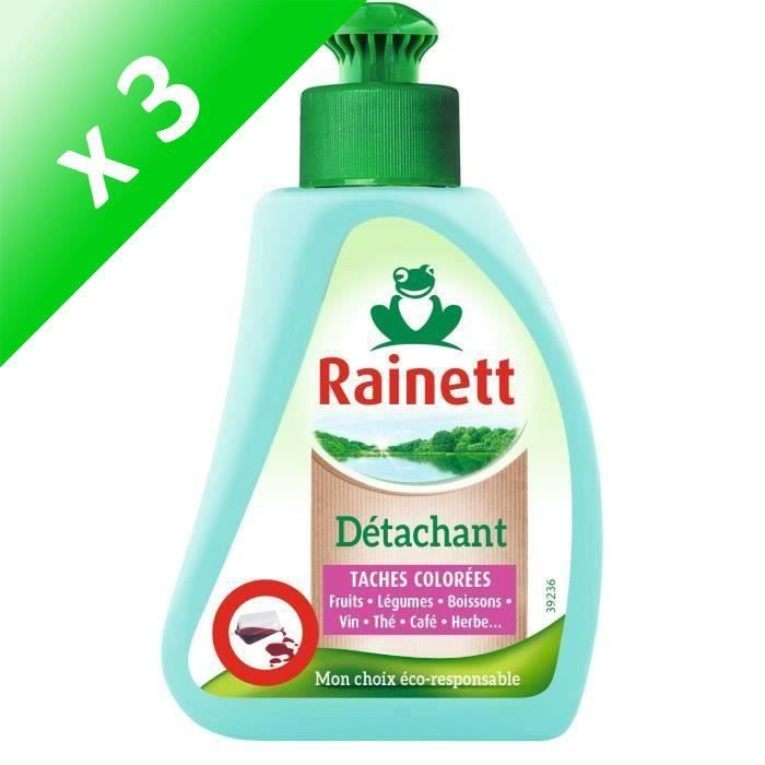 RAINETT Détachant Spécifique Avant Lavage Taches Colorées Oxygène Actif- Applicateur 75ml (Lot de 3)