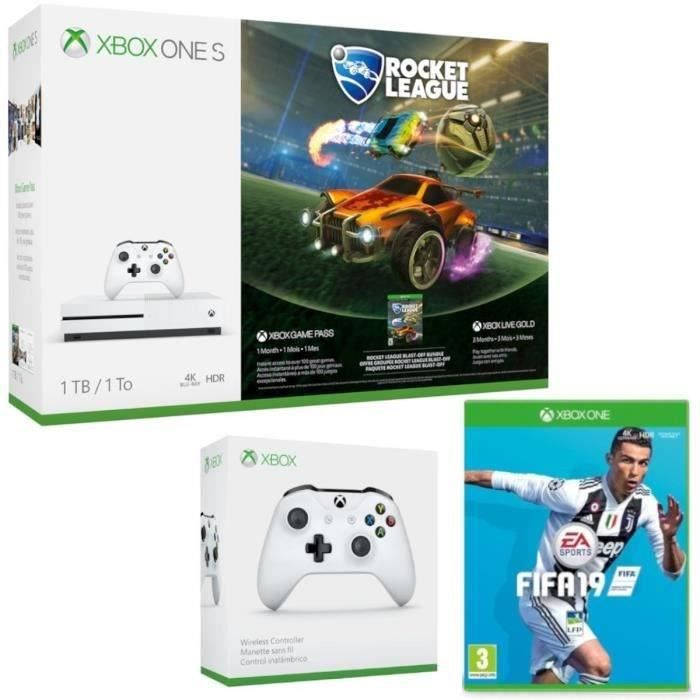 Xbox One S 1 To Rocket League + 2e manette + Fifa 19
