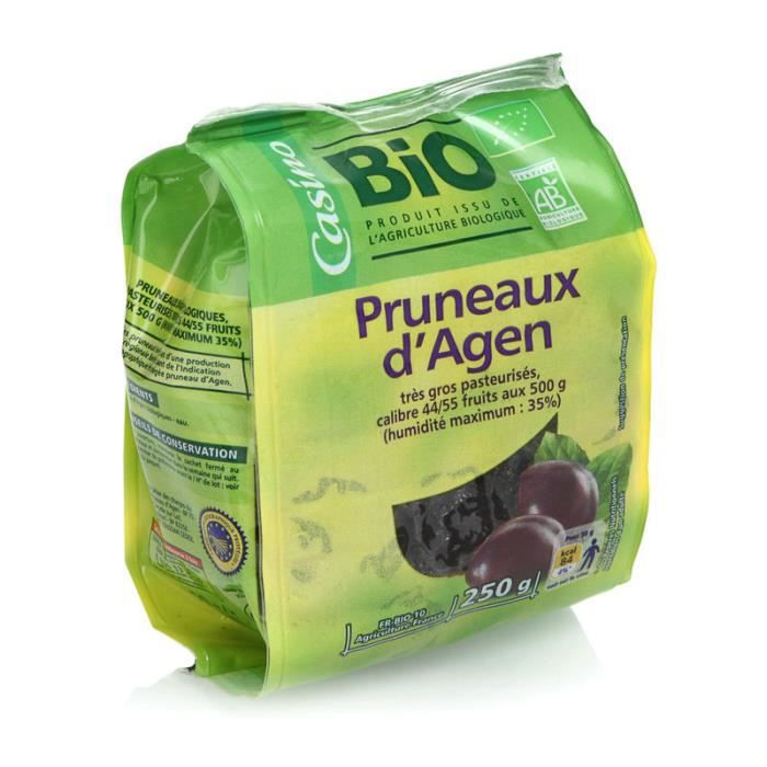 MAITRE PRUNILLE Pruneaux BIO séchés - 250 g
