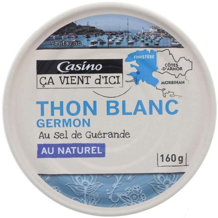 CASINO Thon blanc Germon au naturel - 160 g