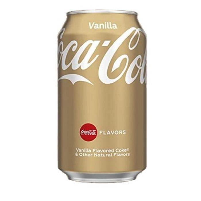 24x Canette de Coca-Cola Vanille, Vanilla, Coke, Boisson Rafraîchissante, Softdrink, Caféine, 30 cl (pack of 24): Epicerie