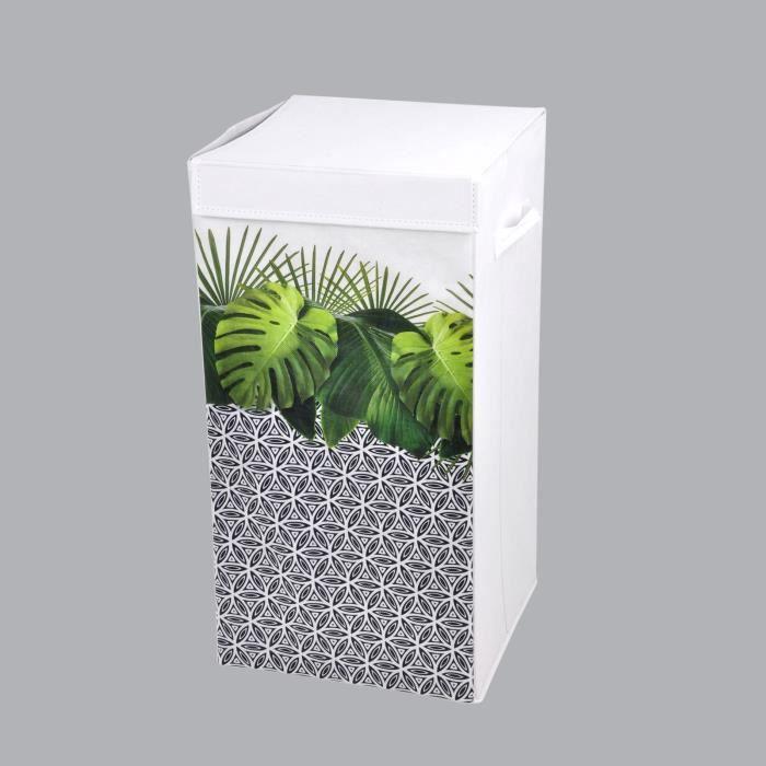 Panier à linge Jungle Vert