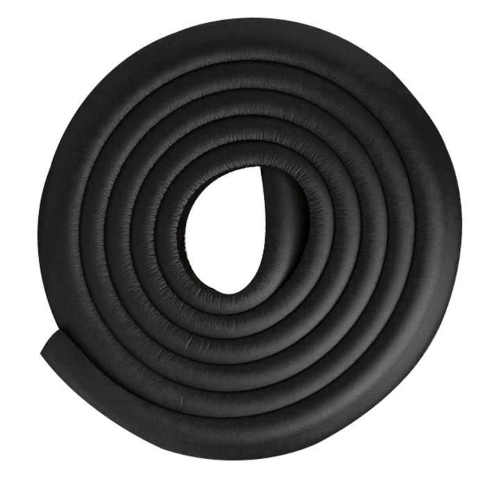 2m Protections d'Angles et Rebords Anti-Chocs Protecteur de Coins Sécurité Rouleau de Mousse pour Table et Plus Noir Footful