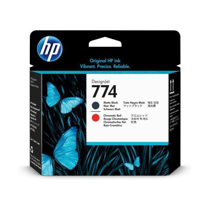 HP INC. Têtes d'impression HP 774 - Noir mat, Rouge...
