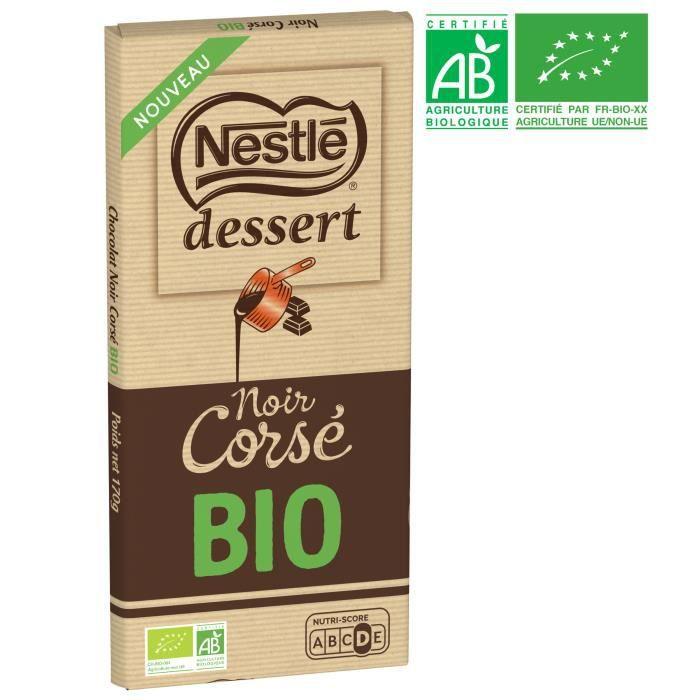 NESTLE DESSERT Tablette de Chocolat noir corsé Bio - 170 g