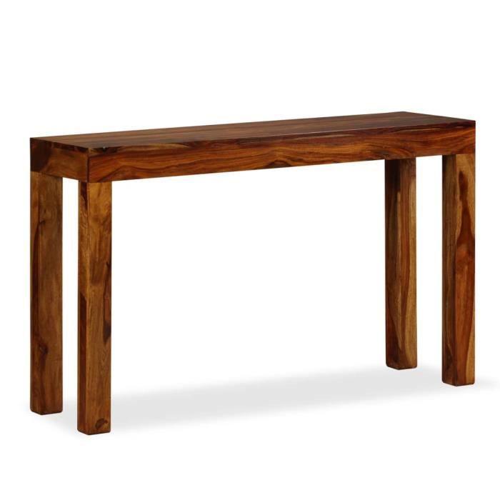 Table console Bois massif de Sesham 120 x 35 x 75 cm