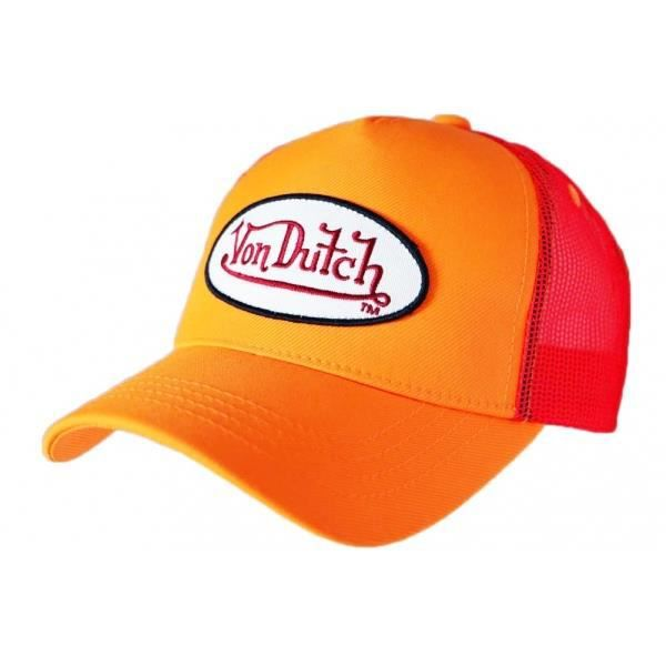 Casquette Von Dutch Orange Fluo Fresh Baseball - Orange - Taille unique