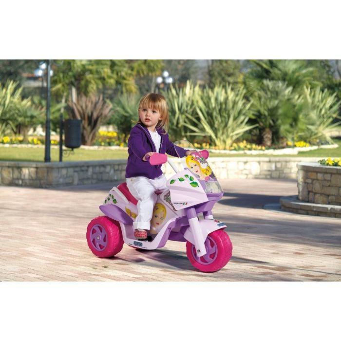 PEG PEREGO Moto Electrique Enfant 3 Roues Raider Princess 6 Volts