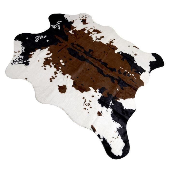 HG36797-LEEGOAL Tapis de sol Imitation peau de Vache Tapis pour décoration maison