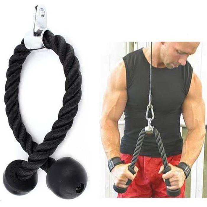 GA28753Corde de fitness triceps corde câble de traction Accessoire de Musculation pour Multi Gym barre
