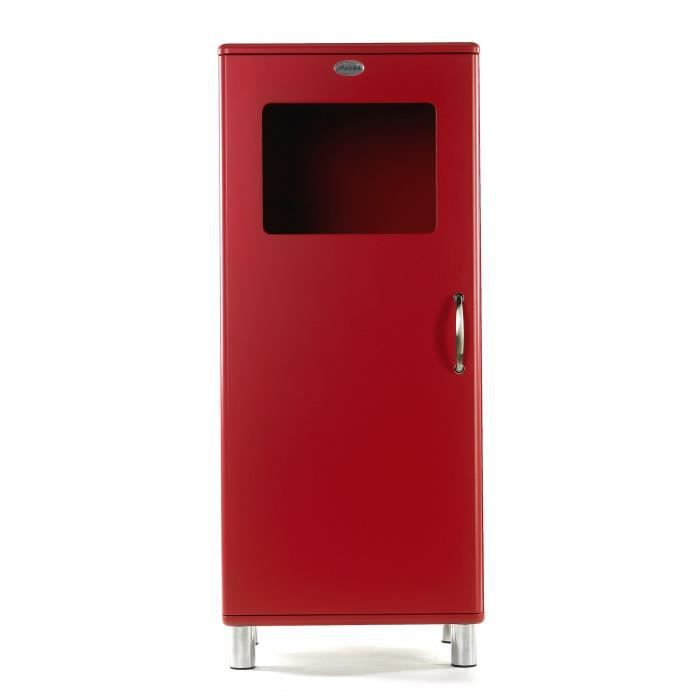 malibu armoire 1 porte vitr e rouge achat vente. Black Bedroom Furniture Sets. Home Design Ideas