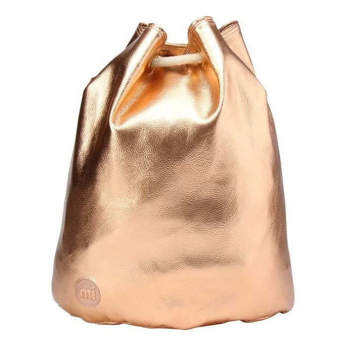 Swing Bag Metallic Sac à Cordon, 38 Cm, Rose-gold QJZOG
