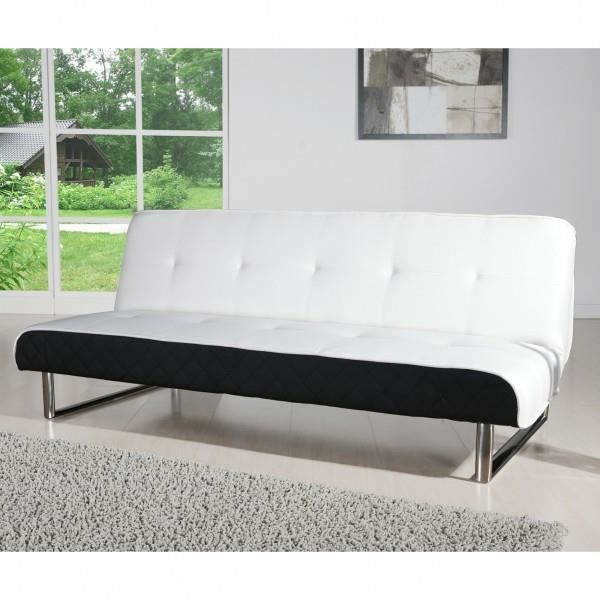 banquette clic clac axe design blanc et noir achat vente clic clac cdiscount. Black Bedroom Furniture Sets. Home Design Ideas