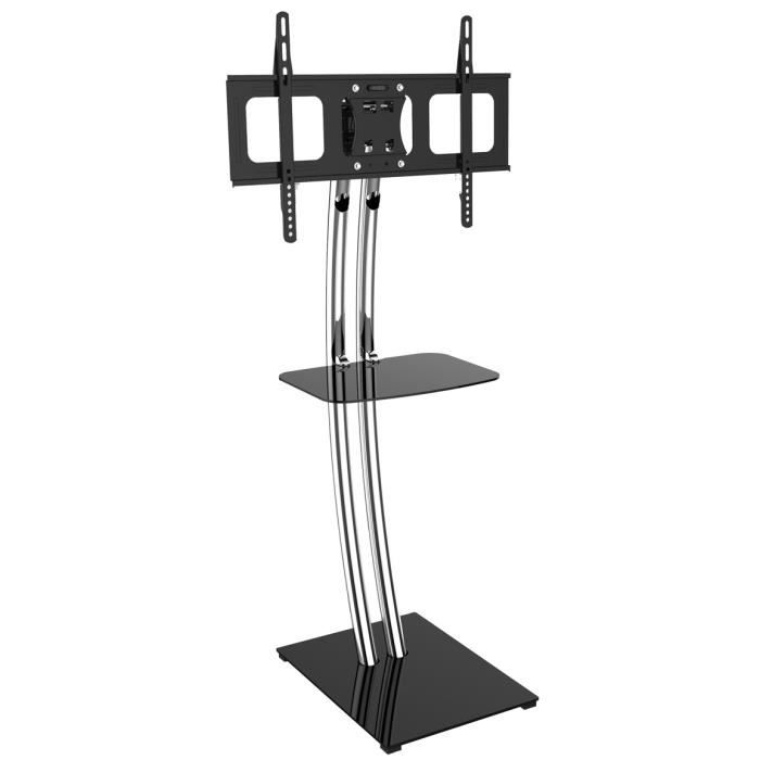 support mobile stand pour tv 30 60 39 39 hauteur 139cm fixation support tv avis et prix pas. Black Bedroom Furniture Sets. Home Design Ideas