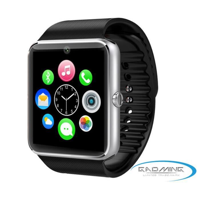 Gear S2 Iphone >> montre connectée smart watch noir et grise - Achat / Vente montre connectée montre connectée ...