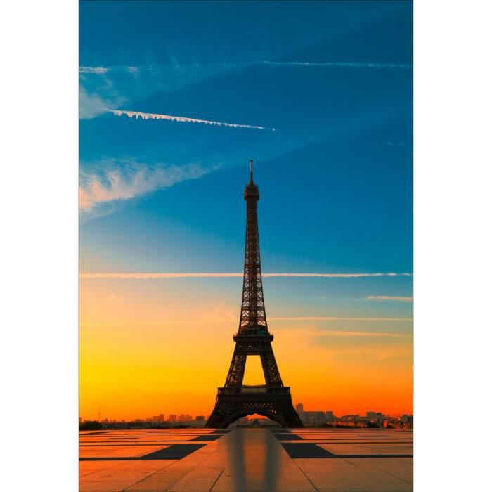 Stickers muraux d co tour eiffel dimensions 20x29cm achat vente stick - Tour eiffel dimension ...