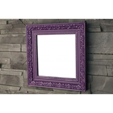 miroir baroque violet achat vente miroir bois cdiscount. Black Bedroom Furniture Sets. Home Design Ideas