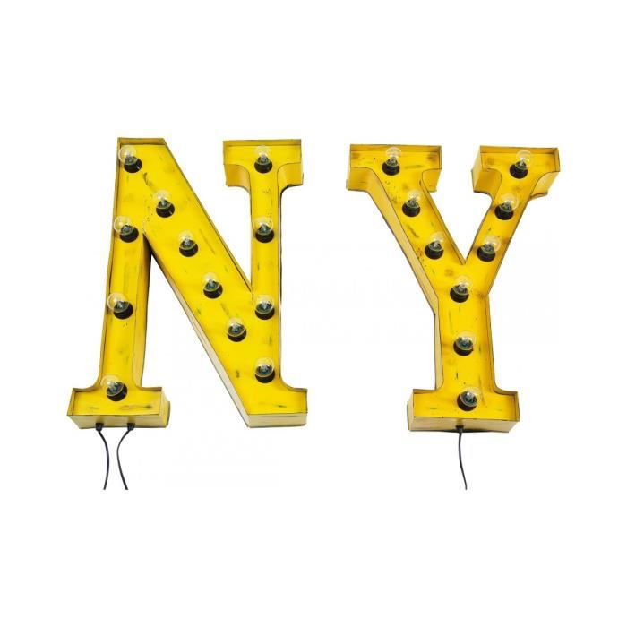 Vintage ny by kare applique murale new york achat - Applique murale new york ...