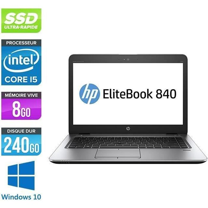 HP EliteBook 840 G1 Core i5 4200U 1 6 GHz 8Go 240Go SSD