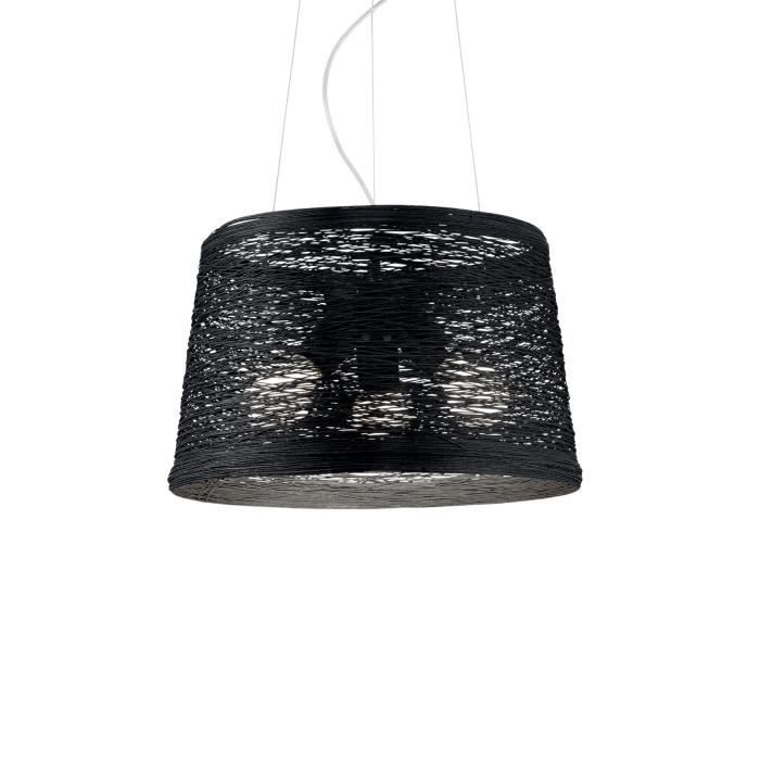 Ideal Lux - BASKET SP3 LAMP 3 FEUX NOIR