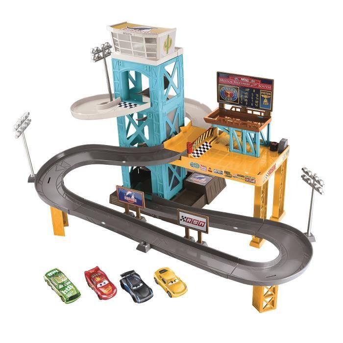 UNIVERS MINIATURE Cars - Garage motorisé avec 4 voitures
