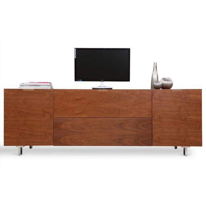 Miliboo meuble tv design buffet coloris noi achat for Miliboo buffet
