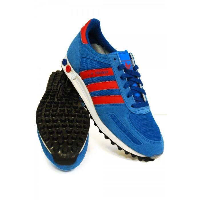adidas la trainer bleu rouge