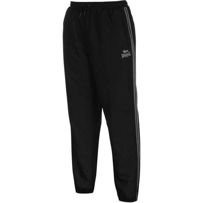 Homme noir doublure légère survêtement pantalon de jogging taille élastique à rayures