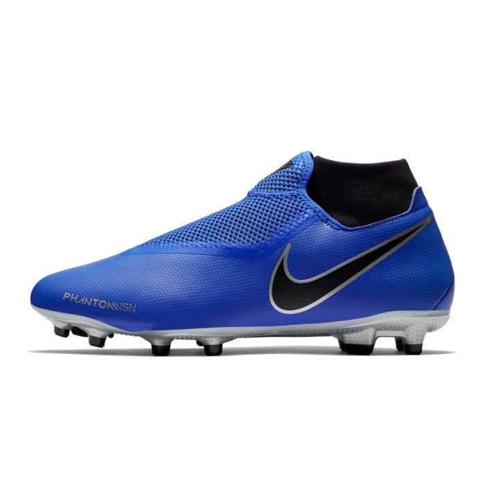870bc7412362e Chaussures football Nike Phantom Vision Academy DF MG Bleu-Gris ...