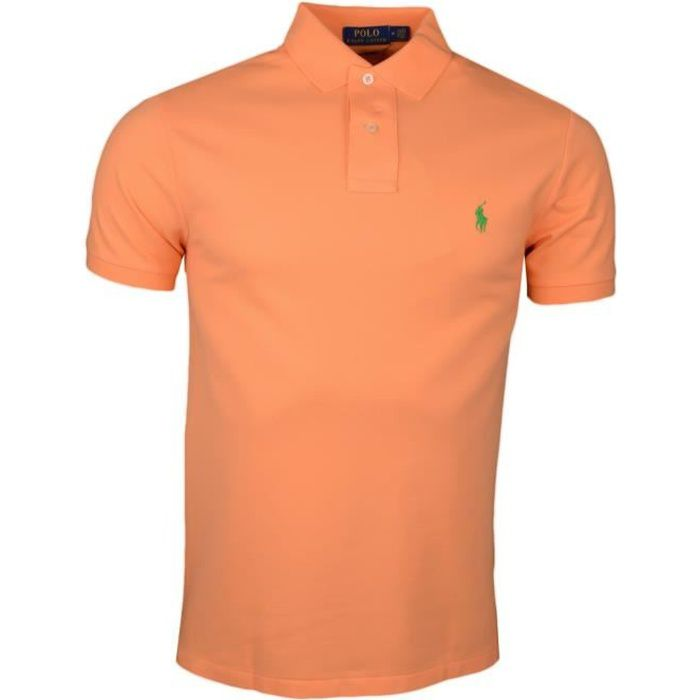 Polo Ralph Lauren orange logo vert slim fit