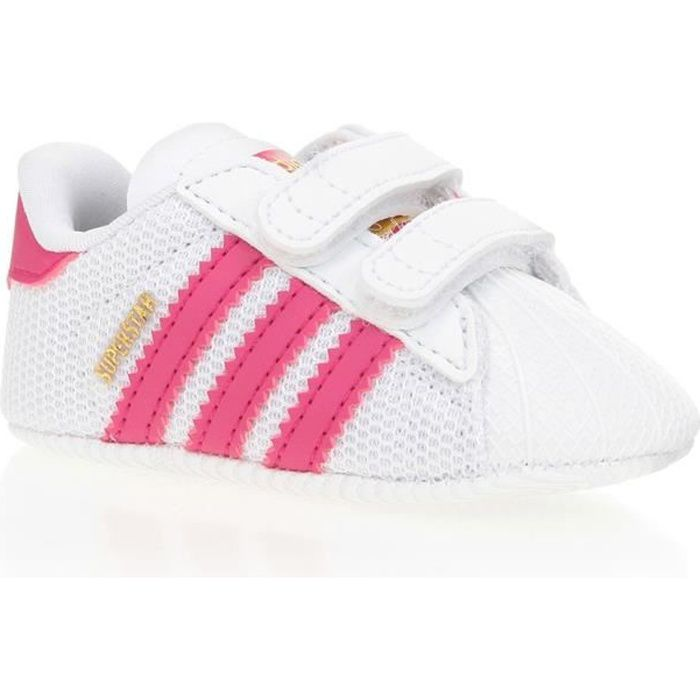 adidas originals baskets superstar chaussures b b fille blanc et rose achat vente basket. Black Bedroom Furniture Sets. Home Design Ideas