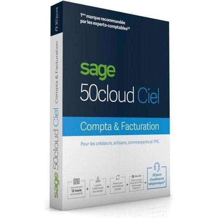 BUREAUTIQUE SAGE 50cloud COMPTA+FACTURATION - 30 jours