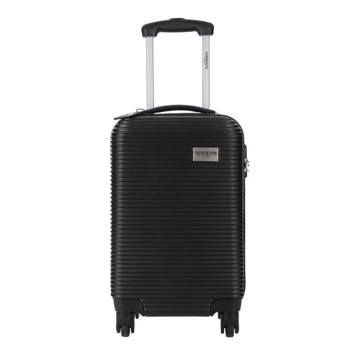 torrente valise cabine low cost rigide polycarbonate 4 roues 50 cm argos noir noir achat. Black Bedroom Furniture Sets. Home Design Ideas