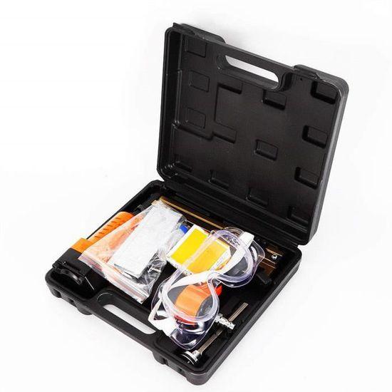 2 in 1 Cloueuse&Agrafeuse /à Air Comprim/é Pneumatique 18 Jauge Kit doutil Aluminium