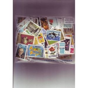 TIMBRE Tous pays - lot de 1000 timbres differents