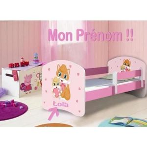 lit enfant fille achat vente lit enfant fille pas cher cdiscount. Black Bedroom Furniture Sets. Home Design Ideas